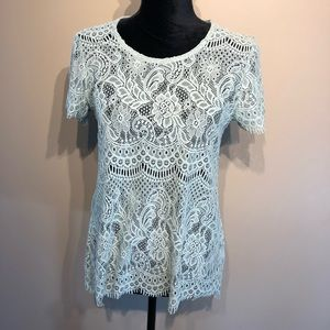 Maurice's Lace Short sleeved top size Medium